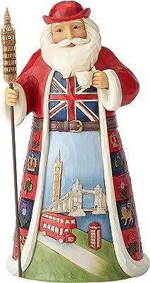 "Enesco Jim Shore Heartwood Creek Santa Around The World Figurine, Stone Resin, Multicolor, 7"""