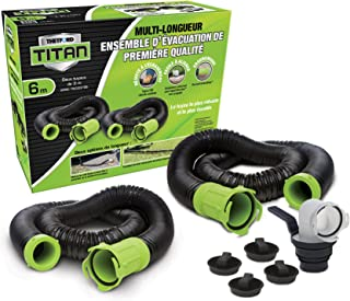 Thetford 17903 Titan 20 Feet Premium RV Sewer Hose Kit Bilingual