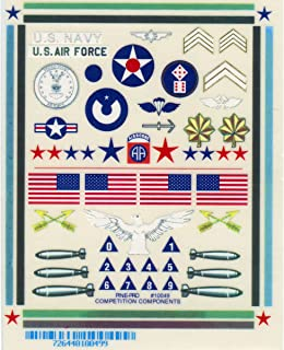 Pine Car Derby Military Decal, 4 by 5-Inch