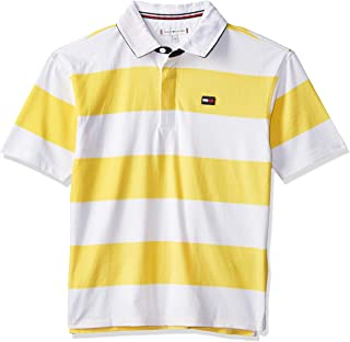 Tommy Hilfiger S/S Knit Tops For Kids Unisex -Aspen Gold/Bright White
