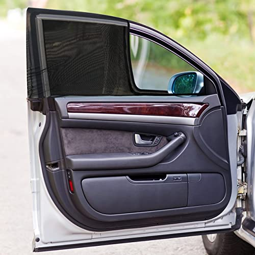 popular EcoNour Front Side Window Shade (2 Pack)   Breathable Mesh Material with Sun new arrival Heat, Glare and UV Protection   Car Window Screens outlet online sale for Camping with Complete Car Privacy Shades   Large (20x40 inches) online