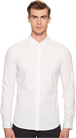 Slim Fit Shirt with Striped Cuff