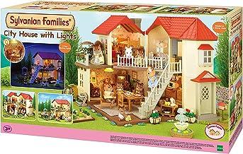 SYLVANIAN FAMILIES- City House with Lights Casa de Mini Muñecas y Accesorios,, 65.0 x 34.8 x 20.6 (Epoch para Imaginar 2750)