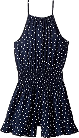 Bardot Junior - Spot Shirred Romper (Big Kids)
