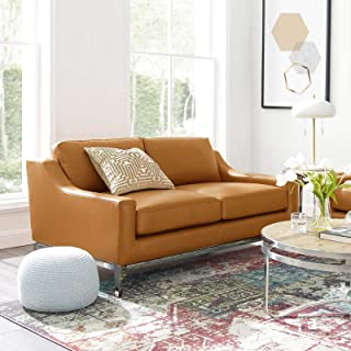 Amazon Com Beige Leather Sofas Couches Living Room Furniture Home Kitchen