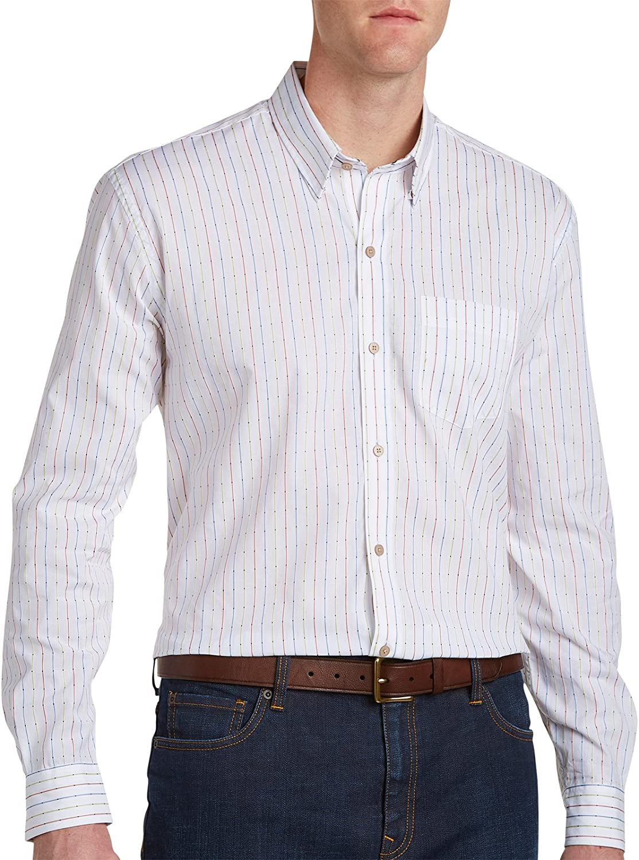 Cutter & Buck Men's Big and Tall Long Sleeve Lantern Stripe Shirt