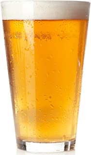 Royal Beer Glass Set - 6 Pack - Holds a full Bottle of Beer up to 16-ounces - Shatter-Resistant, Great for Pubs, Bars, Res...