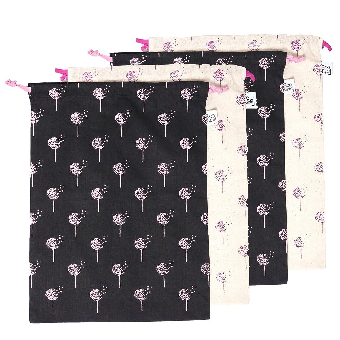 EcoRight Drawstring Shoe Pouch Storage Travel Organizer Bag 100% Cotton Multipurpose Printed