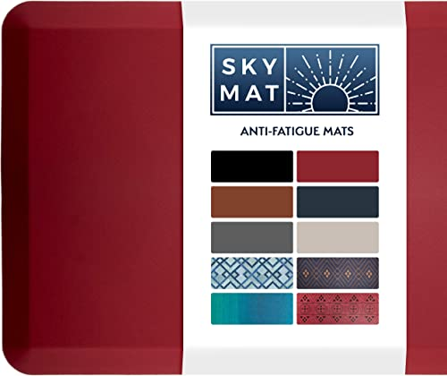 Sky Solutions Anti Fatigue Mat - Cushioned Comfort Floor Mats For Kitchen, Office & Garage - Padded Pad For Office - ...