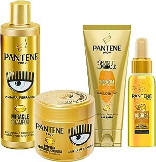 Pantene Pro-V by CHIARA FERRAGNI Balsamo 3 Minute Miracle, Rigenera & Protegge, 150 ml + Maschera 300 ml + Olio Secco 100 ...