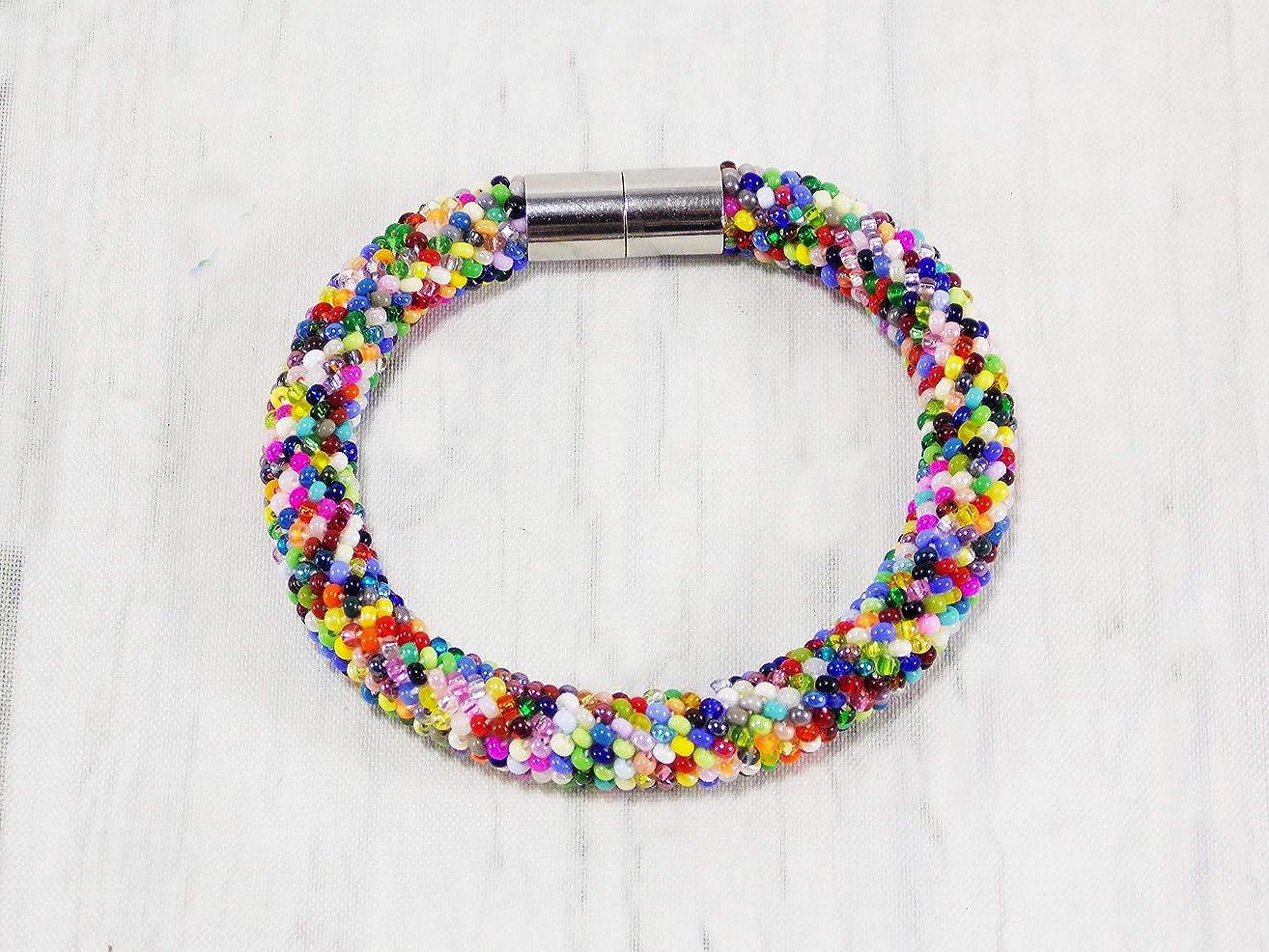 Handmade Zulu Colorful bead Maasai bracelet for women South africa Rainbow Ethnic jewelry
