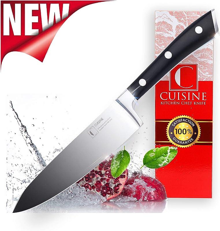 Professional Kitchen Chef Knife Super Sharp 8 Inch High Carbon German Stainless Steel Christmas Gift Box Lightweight Ergonomic Handle Durable Rustproof FREE Knives Sharpener