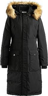 Schockemohle Doreen Ladies Winter Waterproof Jacket in Navy with Faux Fur Hood