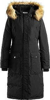 Polydeer Women's Long Winter Puffer Coat Vegan Down Jacket Waterproof Rain Arctic Parka