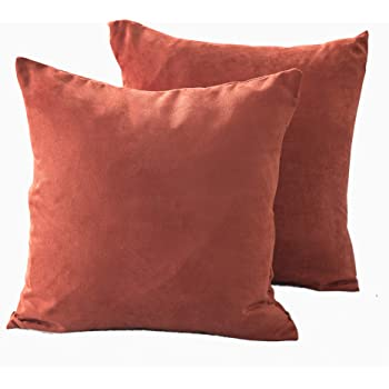 Trendy Contemporary super soft faux suede cushion covers