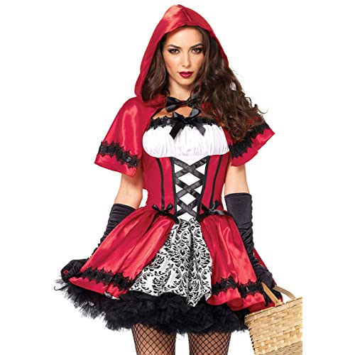 ba225a83379 Leg Avenue Women s Gothic Red Riding Hood Costume