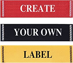 Wunderlabel Personalized Custom Customize Standard Woven with Frame Crafting Fashion Ribbon Ribbons Tag Clothing Sewing Sew Clothes Garment Fabric Material Embroidered Label Labels Tags, 50 Labels