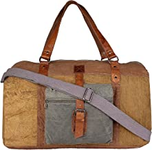 Mona B Sebastian Upcycled Canvas Duffle Bag MC-202