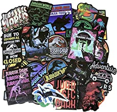 75pcs Jurassic World Dinosaur Stickers for Laptop Stickers Motorcycle Bicycle Skateboard Luggage Decal Graffiti Patches Waterproof Stickers for [No-Duplicate Sticker Pack]