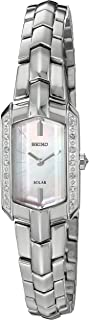 Seiko Women's Tressia Solar Silvertone Watch with Diamond Accents