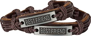 Sun Life Style Best Friends Bracelets for 2 - Braided with Metal Tag - Inspirational Jewelry for Guys and Gals