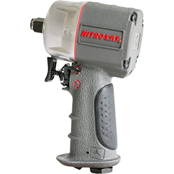 "AIRCAT 1076-XL 3/8"" Compact Composite Impact Wrench,Silver & Grey"