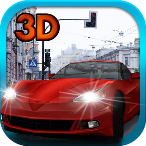 Stadtverkehr 3D: Auto-Schule-Simulator