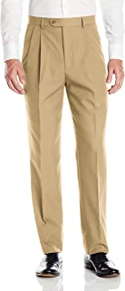 Men's Pleated Washable Microfiber Twill Trouser