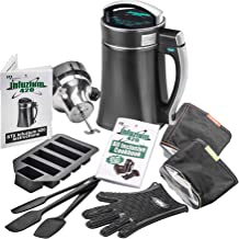 "STX Infuzium 420 Infused Butter-Oil-Tincture Maker Machine Complete Kit ""2 Sticks/1 Cup up to 8 Sticks/4 Cups Butter"" - 2 Filters, 3 Silicone Spatulas, Silicone Glove & Butter Mold Plus our Infuzium 48 Page Cookbook with Over 80 Magical Recipes/Tips"
