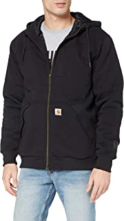 Carhartt Men's Rain Defender Rockland Quilt Lined Hooded Sweatshirt