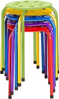 Norwood Commercial Furniture NOR-1101AC-SO stapelbar plastpall, 45 cm höjd, 30 cm bred, 30 cm längd, blandade färger (5-pack)