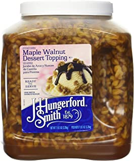 J Hungerford Smith Maple Walnut Dessert Topping, 115 Oz Wide Mouth Jug, 3 Pack