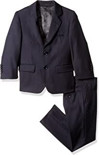 Isaac Mizrahi Boys' Solid 2pc Slim Fit Wool Suit