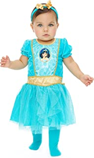 Princess Jasmine Girls Costume Dress Tights & Headband Set