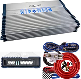 Hifonics BXX1200.4 Brutus 1200W RMS 4 Channel A/B Speaker Car Audio Amplifier RCA Outputs Wired Remote bass Level Control ... photo