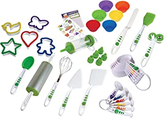 Curious Chef TCC50231 Piece 38 pc. Cookie & Cupcake Kit, Child, Green