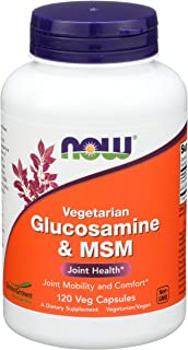Now Foods, Glucosamine Hydrochloridevegetarian 500Mg, 120 Veggie Capsules