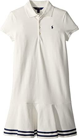 Stretch Piqué Polo Dress (Little Kids/Big Kids)