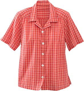 Plaid Seersucker Camp Shirt