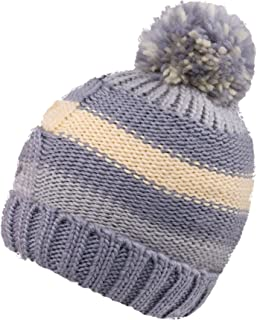 04e8bf63502 KEA KEA Children Kids Chunky Pompom Striped Knit Beanie Boys Girls Winter  Hat Ski