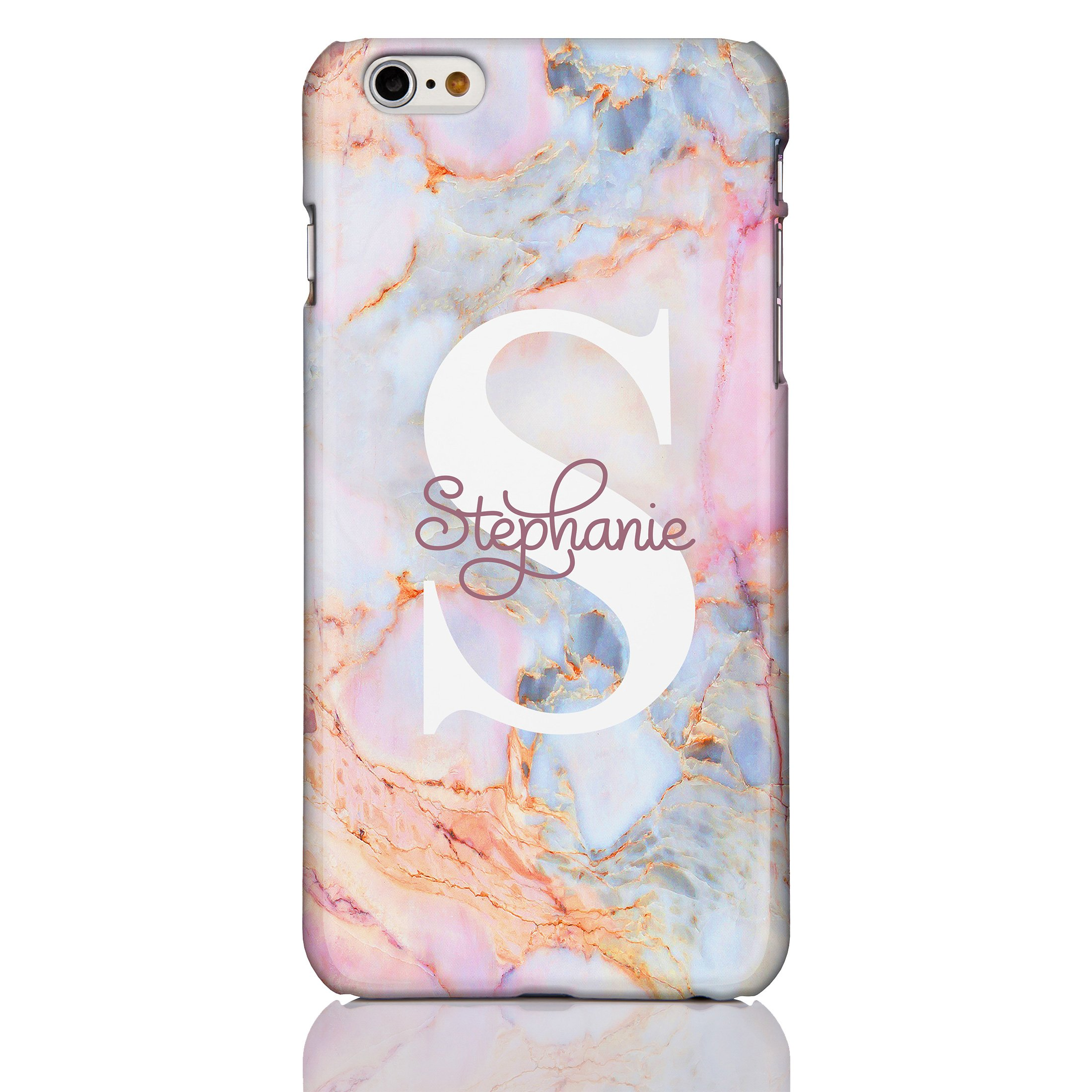 personalised iphone 6s case amazon co ukicasedesigner personalised marble and glitter phone case for apple iphone 6 6s 10