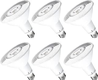 Hyperikon PAR38 LED Bulb, 100 Watt (14W), Dimmable Flood Light, E26 Base, 3000K, CRI90, UL, Energy Star, 6 Pack