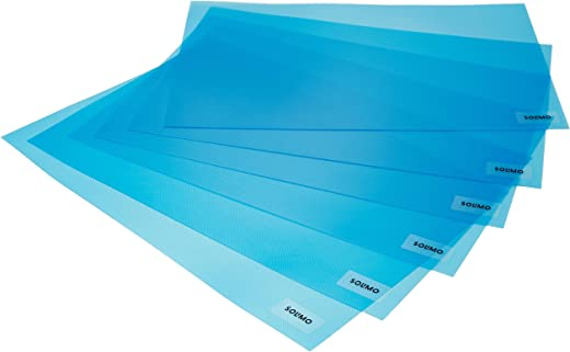 Amazon Brand - Solimo PVC Fridge Multipurpose Mat, Set of 6, Blue