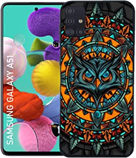Shopezzz Bazaar Angry Owl 3D Printed Hard Mobile Back Cover Case for Samsung Galaxy A51
