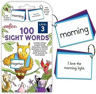 eeBoo 100 Sight Words Flash Cards, Level 3