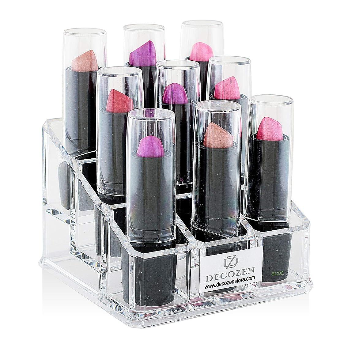 Decozen Makeup Organizer Storage Lipstick Holder 9 slot for Lipstick Lipgloss Mascara Essential Oil etc