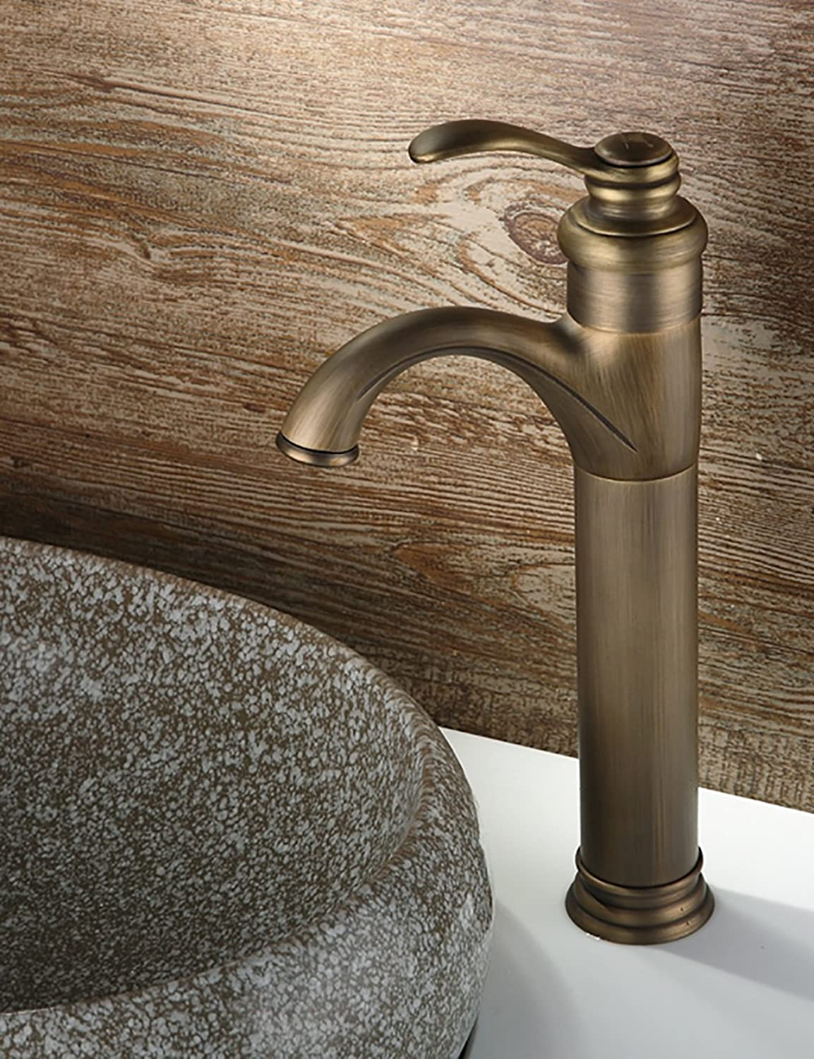 Sun LL European Style Simple Modern Bathroom Restaurant Hotel Faucet Brass Hot And Cold Artistic Basin Single Handle Single Hole Can Be redated Wash Basin