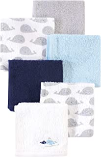 Luvable Friends Unisex Baby Super Soft Cotton Washcloths, Whale, One Size
