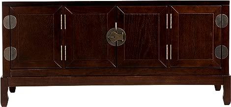 Dynasty Media Cabinet - Side Cabinets w/ Adjustable Shelves - TV Stand w/ Expresso Finish