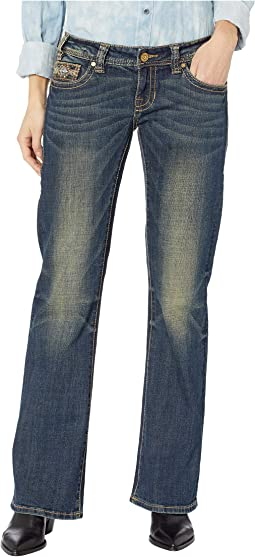 Riding Bootcut Jeans in Dark Vintage W7-8720